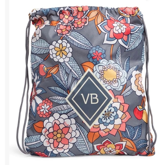 NWT Vera Bradley Tropical Evening Drawstring Bag
